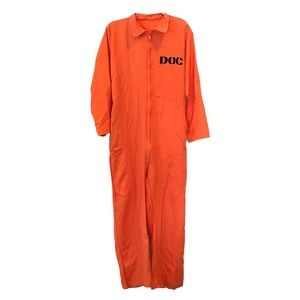Other - Orange Prisoner DOC Jumpsuit Costume OneSize